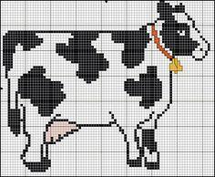Free Cross Stitch Cow Pattern -Free