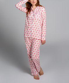 653111824b Pink Starfish Pajama Set - Women  zulilyfinds Pajama