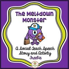 This fun FREEBIE social skills story addresses emotional regulation and the strategies to help your students manage their own meltdown monsters! An easy slime recipe is also included to make your own meltdown monsters for