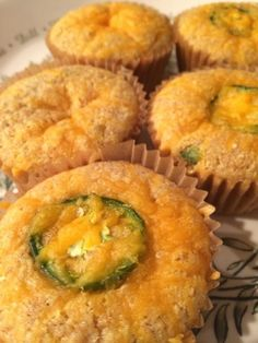 Jalapeno Cheddar Corn Bread Muffins