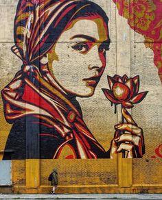 Shepard Fairey – Jersey City (New Jersey) 2018 – streetart Street Wall Art, Art Painting, Mural Art, Female Art, Illustration Art, Art, Graffiti Art, Canvas Art, Pop Art