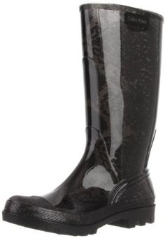 377f70ff515 Calvin Klein Women s Kirsten Boot.  79.00 Kick up a fashion storm on any  rainy day with the Kristen boot from Calvin Klein. High gloss and feisty  snake ...
