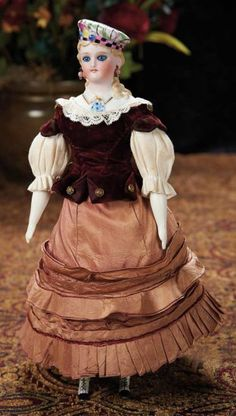 Extremely Rare German Bisque Lady with Bisque Tam and Matching Boots by C.F. Kling 9000/13,000 Auctions Online | Proxibid