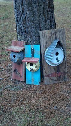 Girls Gone Junkin repurposed birdhouses