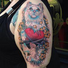 Cat tattoo - Matt Adamson