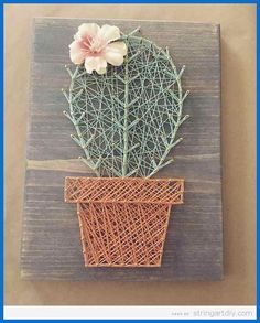 Top 10 Cactus String Art DIY - String Art DIYString Art DIY | DIY and Crafts