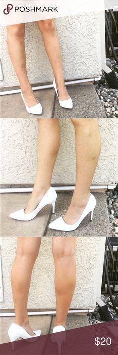 White high heels Never worn white high heels , brand is XOXO , 4 inch heel XOXO Shoes Heels
