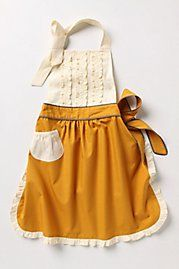 I would wear this anthropologie apron any chance I could get. I imagine I'd even wear it out of the house