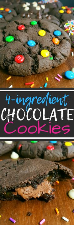 These cookies are rich, chocolate fudgy, and so soft. They taste just like brownies. Easy, one bowl recipe, no mixer, no chilling required and ready in less than 30 minutes! Have at it my chocolate lovers. #cookies #chocolate #dessert #baking