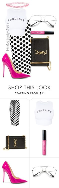 """Untitled #41"" by hermajestymarie on Polyvore featuring Boohoo, Wildfox, Yves Saint Laurent, Bobbi Brown Cosmetics, Jimmy Choo and Wet Seal"