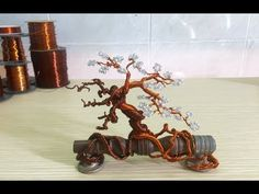 [Bonsai Handmade] Copper Wire Bonsai Tree On Cabinet Knobs - YouTube