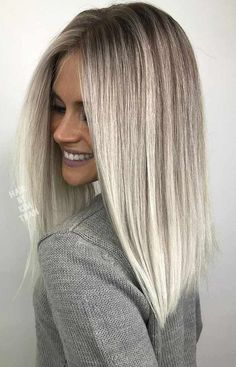 A platinum hair color is literally the lightest among all the other blonde hues. #haircolor #platinumhair #platinumblonde #hairhighlights