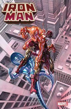 Alex Ross, Comic Books Art, Comic Art, Marvel Comics, Iron Man, Daredevil Matt Murdock, Alternative Comics, Splash Page, Silver Surfer
