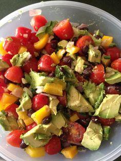 Fit Gals' Avocado and black bean salad