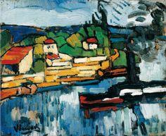 Maurice de Vlaminck (France 1876-1958)The Seine at Chatou (1906-07) oil on canvas