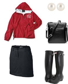 """Golf Tournament Outfit (Rainy Day)"" by alexxtruelovee on Polyvore"