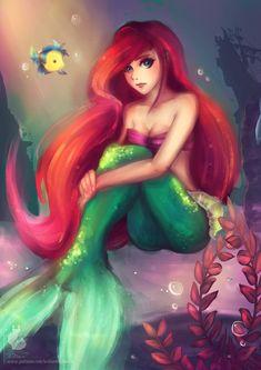 "Ariel by Wilvarin-Liadon.deviantart.com on @DeviantArt - From ""The Little Mermaid"""