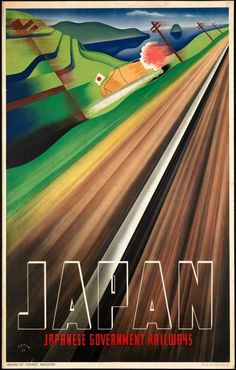 Japan Railways travel poster