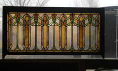 mini ideas  Antique American Arts Crafts Stained Glass Transom | eBay