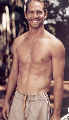 Paul Walker...good gosh that smile. & also, sir, your pants are too high. A little lower, please. ;)