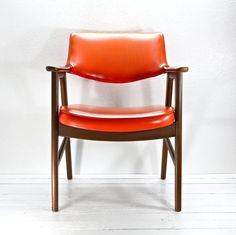 Mid Century Authentic Paoli Lounge Arm Chair Orange by AtomicAttic, $169.00