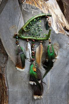 Dreamcatcher Witches Bog green boho magic dream catcher with