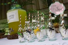 Swamp Juice Drinks at a Reptile Party #reptile #partydrinks