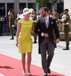 Stéphanie e Guillaume no Dia Nacional 2015.