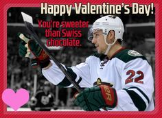 Forget the chocolates this year, just send this card.    (JK, don't forget the chocolates). #mnwild