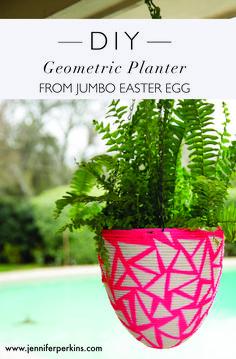 DIY Geometric Plante