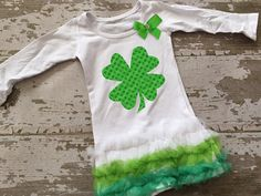 Shamrock Tunic with Bow by littlemacboutique on Etsy