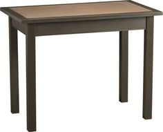 --Porcelan top that is heat, scratch and stain resistant! Couldn't ask for a better table. I love the rustic style too. I Think I might need to buy one of these before they run out! --aw-- Ploughman High Dining Table  | Crate and Barrel