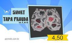Short tapa frauda nos tamanhos P, M e G de bebê - R$ 4,50