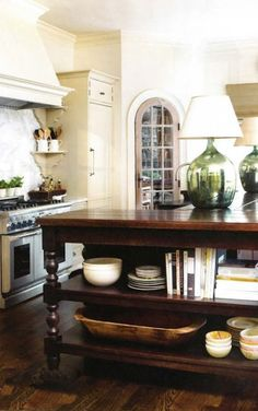 Great kitchen island - pretty arched door to outside - Tammy Connor