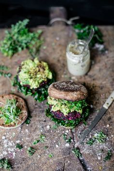 Beetroot Falafel Burgers by eat better not less #beetrootburger #burger #streetfood