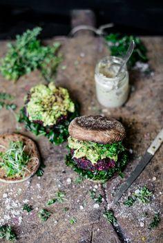 Beetroot Falafel Bur