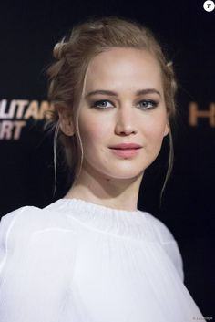 "Jennifer Lawrence lors de la première du film ""The Hunger Games - La Révolte : Part 2 » au Grand Rex à Paris, le 9 novembre 2015. © Olivier Borde"