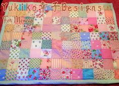 Handmade Cath Kidston cot quilt for Mencap by TearfulTenshi, £125.00