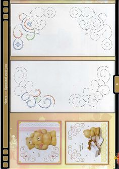 Latest Trend in Paper Embroidery - Craft & Patterns Embroidery Cards, Embroidery Patterns, Card Patterns, Stitch Patterns, Kirigami, Stitching On Paper, Sewing Cards, Parchment Craft, Paper Frames