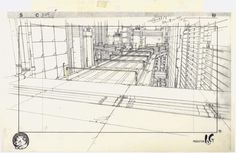The Museum of Architectural Drawing in Berlin showcases the superb drawings of urban architecture made for a range of Japanese anime such as Ghost in the Shell. Architecture Graphics, Urban Architecture, Japanese Architecture, Architecture Layout, Creators Project, Cartoon Sketches, House Illustration, Ghost In The Shell, Animation Film