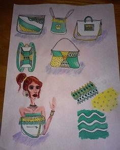 #bags #style #fashion #design #designer #designing #fashiondesign #fashiondesigner #fashiondesigning #stylist #stylish #sketches #yellow #moda #mode #illustration #illutrate #fashionillustration Fashion Art, Fashion Design, Stylish, Illustration, Designer, Sketches, Yellow, Bags, Instagram