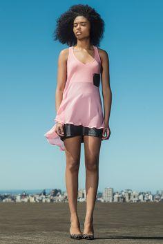 #gverri #gverristore  #blusa #rosa #short #couro #verão14 #moda #fashion