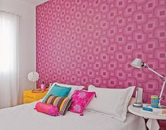 http://taizh.com/wp-content/uploads/2014/10/beautiful-pink-wallpaper-bedroom-design-with-lamp-stand-round-table-as-well-yello-vanity-desk-corner-and-white-curtain-including-colorful-pillow.jpg