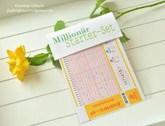 ♥♥♥♥♥ Ich verschenke gern mal einen Lotterie-Schein, aber natürlich nicht einfach in einem Kuvert gesteckt. Da alle Glückspielteilnehmer hoffen einen großen Gewinn zu ergattern oder gar Millionär …