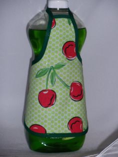 Cherry Country Dish Soap Bottle Apron Cover Kitchen ~etsy