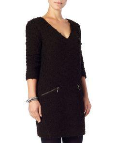 Zip Pocket Ria Raschel Dress