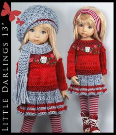"OOAK *** FALL *** Outfit for Little Darlings Effner 13"" by Maggie & Kate Create"