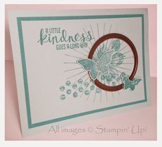 """Lyssa's Convention Quality Card was made by Lyssa Zwolanek using Stampin' Up's """"Kinda Eclectic"""" stamp set."""