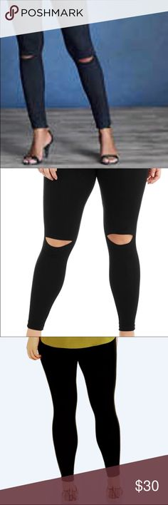 ✅new fall fab for black peek a boo knee xl to 1 x Great looking hot new fall fashion peek a boo knee legging. Black one size fits med large xlarge  very soft comfortable great fitting.  Brand new arrival great fall leggings Pants Leggings