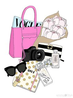 Collaboration between blogger Stephanie of www.stephaniesterjovski.com and illustrator Kristina Hultkrantz of www.EmmaKisstina.com